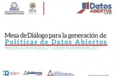 OEA y DIGEIG realizaron  mesa de diálogo para generación de políticas de Datos Abiertos en RD