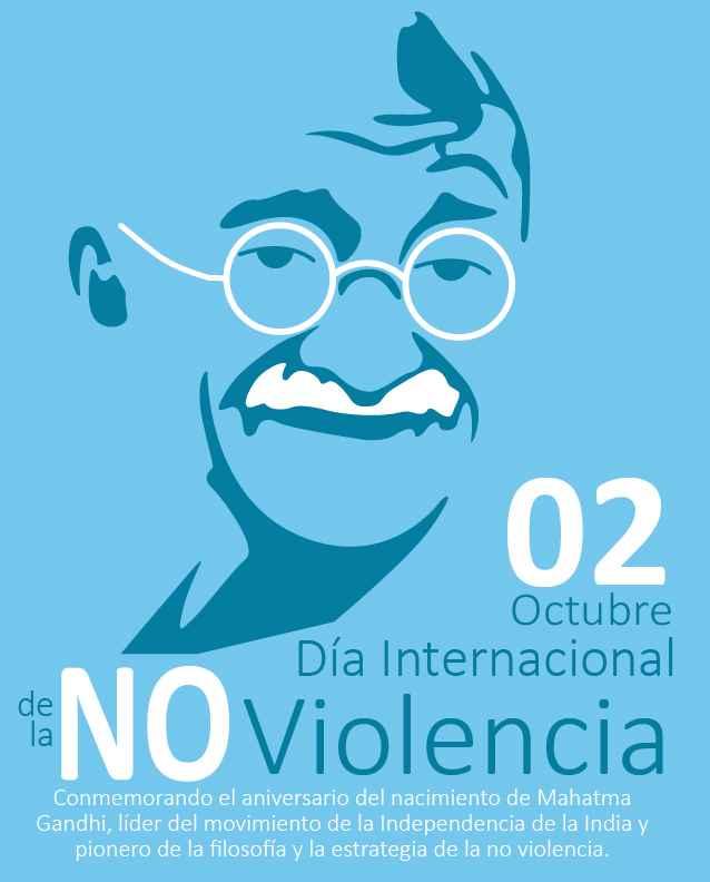 Resultado de imagen de Día Mundial de la No Violencia